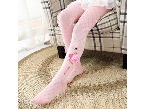Detské oblečenie - detské pohodlne pančuchy s potlačou baletky - pančuchy - pančucháče - vianočný darček