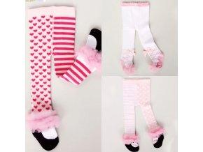 Detské oblečenie - ponožky - detské roztomilé pančuchy s krajkou - pančuchy - pančucháče