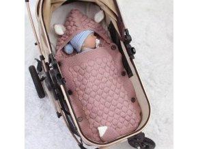 Detské oblečenie - bábätko - spací vak s uškami pre bábätká - deky