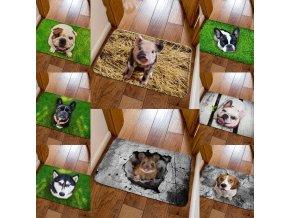 Predložka - rohožka - rohožka s potlačou psov a zvierat - pes - dekorácie - koberec