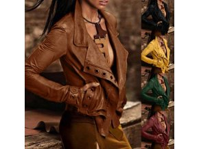dámske oblečenie -nadměrné veľkosti - dámska koženková bunda s krásnym zdobením - kožené bundy - dámske zimné bundy - krivák