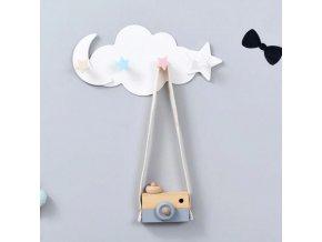 Bábätka - dekorácie - dekorácie na stenu - detský roztomilý vešiak na oblečenie - vešiak - detská izba