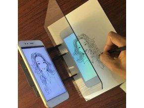 Maľovanie - projekčné zrkadlová doska na maľovanie podľa odrazu - vianočný darček