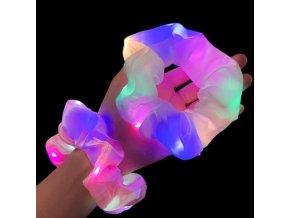 Účesy - svietiaca gumička do vlasov - gumičky - darček pre dievčatá