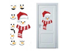 Vianoce - vianočné dekorácie - vianočné samolepky vhodné na dvere - samolepky na stenu - samolepiace tapety
