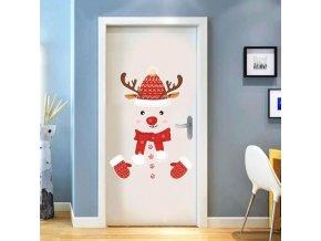 Vianoce - vianočné dekorácie - detská vianočné samolepka na stenu alebo na dvere - samolepky na stenu - dekorácie - vianočný darček