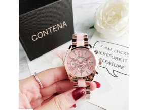 Hodinky - krásne módne hodinky s farebným prúžkom - dámske hodinky - darček pre ženu