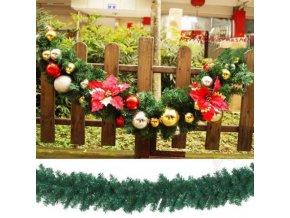 Vianoce - vianočné ozdobená girlanda s kvietkami - vianočné dekorácie - vianočné girlanda