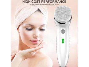 Kozmetika - čistiaca kefa na tvár 4v1 - hĺbkové čistenie - darček pre ženu