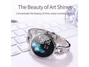 Hodinky - dámske hodinky - dámske módne chytré hodinky zdobené kamienkami - chytré hodinky - dámske chytré hodinky