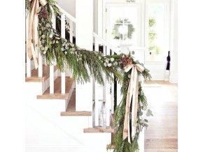 Vianoce - vianočné girlanda z umelých vetvičiek vo viacerých variantoch - vianočné dekorácie - vianočné girlanda
