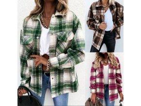 Oblečenie - dámske košeľová bunda v retro štýle - dámske jarné bundy - výpredaj skladu