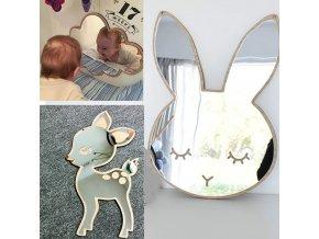 Detská izba - detské dekoratívne zrkadlo v rôznych vzoroch - dekorácie - dekorácie na stenu - zrkadlo - zrkadlo do kúpeľne