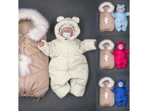 Detské oblečenie - novorodenecká kombinéza do veľkej zimy - oblečenie pre bábätká - výpredaj skladu