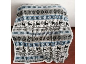 Vánoce - vánoční deka s krásnými motivy - vánoční dekorace - deky - přehoz na postel
