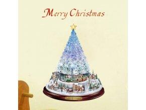 Vianoce - vianočné samolepka na stenu alebo na okno - dekorácie - vianočné dekorácie - dekorácie na stenu