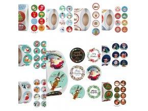 Vianoce - vianočné samolepky vhodné na darčeky - vianočné darčeky - samolepky - výpredaj skladu