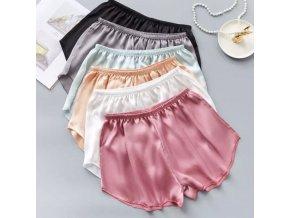 Oblečenie - kraťasy - dámske saténové šortky na spanie - dámske pyžamo - darček pre ženu