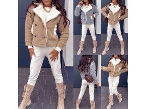 Oblečenie - zimné bundy - dámska štýlová zimná bunda s vreckami - dámske zimné bundy -jarní bundy