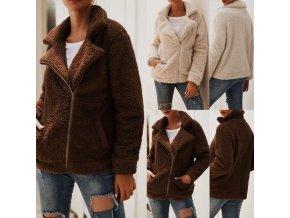 Oblečenie - kabáty - huňatá dámska bunda vhodná na zimu-Dámske zimné bundy - zimné bundy