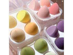 Kozmetika - sada hubiek na makeup v krabičke v rôznych farbách - líčenie - hubka - darček pre ženu - vianočný darček