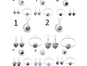 Šperky - detská sada šperkov s motívmi ľadové kráľovstvo - ľadové kráľovstvo - darček pre deti - výpredaj skladu