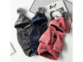 pes - psie oblečok - krásna mikina pre psa s brmbolcami - chovateľské potreby - pes - psie oblečky oblečky oblečky oblečením oblečením obleky obleky oblečenie oblečení obliečky povlečení