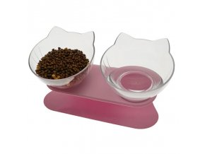 Mačky - dvojitá miska na vodu a žrádlo pre mačičku - chovateľské potreby - granule pre mačky