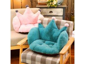 Vankúše - pohodlný vankúš na stoličku v tvare korunky - korunka - vianočný darček