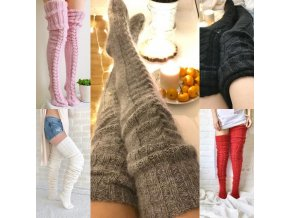 Dámske oblečenie - nadkolienky - krásne pletené nadkolienky veľmi hrejivé - ponožky - darček pre ženu