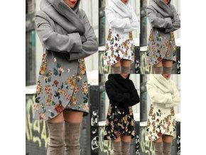 Oblečenie - kabát - dámsky ľahký mikinový kabát s potlačou kvetín - dámske mikiny - dámsky kabát - darček pre ženu