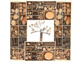 Hračky - tvorenie s deťmi - ručné tvorenie pre deti drevené vetvičky a kolieska na tvorenie - ručné tvorenie - drevo - výpredaj skladu