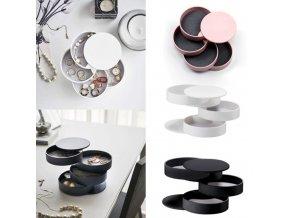 Šperky - krásny otočný úložný box na šperky - šperkovnice - darček pre ženy