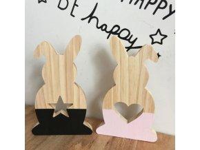 Dekorácie - veľkonočný dekoračné drevený zajačik - Veľká noc - veľkonočné dekorácie