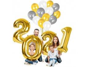 Dekorácie - dekoračné nafukovacie balóniky na oslavu nového roka 80 cm - balóniky - šťastný nový rok - silvester