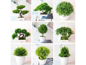 Dekorácie - dekoračné umelá bonsaj - bonsai - dekorácie do bytu - umelé kvety
