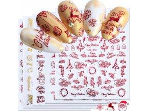 Nechty - ozdobné vianočné samolepky na nechty - vianoce - modeláž nechtov