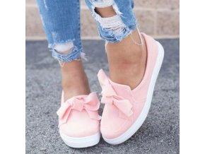 Topánky - dámske tenisky - dámske nazúvacie tenisky zdobené mašľou - tenisky - espadrilky