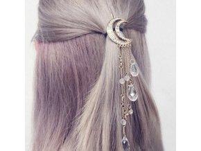 Vlasy - účes - krásna ozdoba do vlasov s mesiacom - sponka - výpredaj skladu