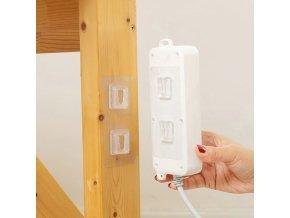 Domov - lepiaca nástenný priehľadný háčik na zavesenie predlžovačky - háčiky - výpredaj skladu