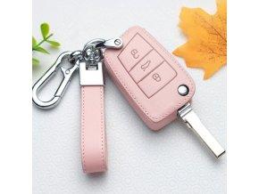 Auto - kľúč od auta - kožené puzdro na kľúče od auta - puzdro - darček pre ženu