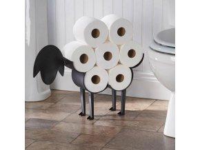 Domov - dekorácia na záchod na toaletný papier v tvare ovce - dekorácie do bytu - kúpeľňa - wc