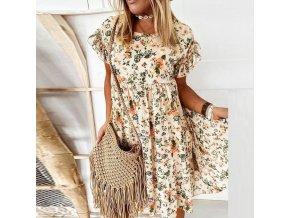 Oblečenie - šaty - letné kvetinové šaty s volánikmi - dámske šaty - výpredaj skladu