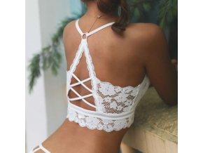 Podprsenka - spodná bielizeň - krajkové podprsenka v štýle braletky s krásne zdobenými chrbtom - erotická bielizeň
