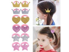 Účes - vlasy - ozdobné gumičky do vlasov pre dievčatká - gumičky - výpredaj skladu