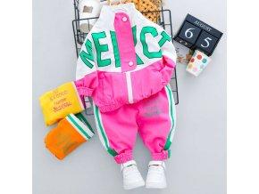 Detské oblečenie - detská štýlová tepláková súprava - tepláková súprava - tepláky