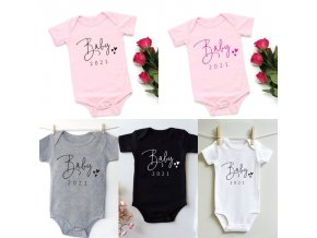 Detské oblečenie - detské body oznámenia bábätka 2021 - body - dojčenské oblečenie