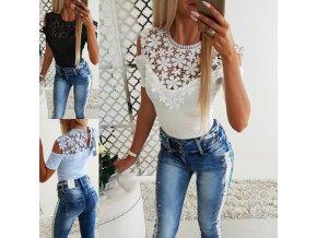 Oblečenie - tričko - dámske letné tričko krásne zdobené - dámske tričká - zľavy dnes