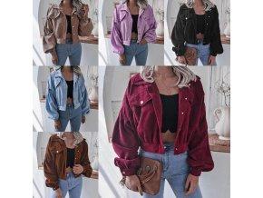 Oblečenie - bunda - dámska menčestrová bunda s vreckami - dámske jarné bundy - výpredaj skladu
