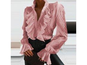 Oblečenie - blúzka - dámska elegantná blúzka s volánikmi - dámske blúzky - výpredaj skladu